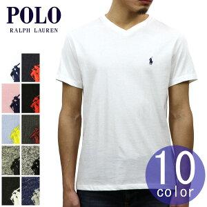 ポロラルフローレンPOLORALPHLAUREN正規品メンズVネックワンポイント刺繍入り半袖TシャツSHORT-SLEEVEDV-NECKTEE