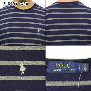 ポロラルフローレンPOLORALPHLAUREN正規品メンズワンポイント刺繍入り半袖ボーダーTシャツSTRIPESHORT-SLEEVEDTEE