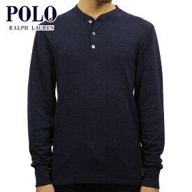 ポロ ラルフローレン POLO RALPH LAUREN 正規品 メンズ ヘンリーネック 長袖Tシャツ COTTON-BLEND HENLEY SHIRT NAVY HEATHER