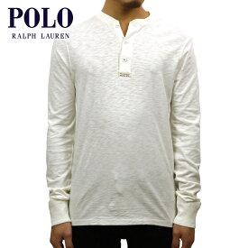 ポロ ラルフローレン POLO RALPH LAUREN 正規品 メンズ ヘンリーネック 長袖Tシャツ COTTON-BLEND HENLEY SHIRT IVORY 買いまわり