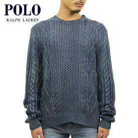 ポロ ラルフローレン セーター メンズ 正規品 POLO RALPH LAUREN クルーネックセーター ケーブル編みセーター WASHED CABLE KNIT SWEATER