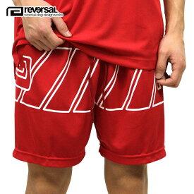 リバーサル REVERSAL 正規販売店 メンズ ナイロンショーツ イージーパンツ OBLIQUE EASY SHORTS rv19ss036 RED