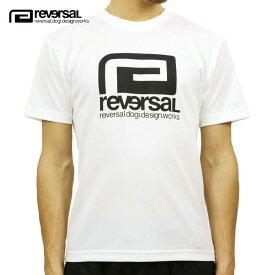 リバーサル Tシャツ 正規販売店 REVERSAL 半袖Tシャツ クルーネック ロゴ メッシュ地 BIG MARK DRY TEE rvbs028 WHITE