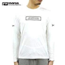 リバーサル ロンT メンズ 正規販売店 REVERSAL 長袖Tシャツ DSOTM DRY LONG COTTON SLEEVE TEE rv20ss101 WHITE