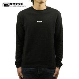 リバーサル ロンT メンズ 正規販売店 REVERSAL 長袖Tシャツ SMALL LOGO COTTON LONG SLEEVE TEE rv20ss102 BLACK