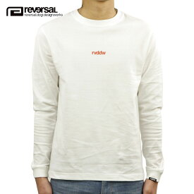 リバーサル ロンT メンズ 正規販売店 REVERSAL 長袖Tシャツ SMALL LOGO COTTON LONG SLEEVE TEE rv20ss102 WHITE/RED