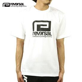 リバーサル Tシャツ メンズ 正規販売店 REVERSAL 半袖Tシャツ ドライ ロゴ クルーネック BIG MARK DRY TEE rvbs028 WHITE