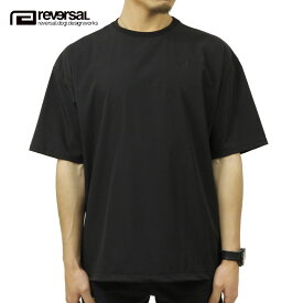 リバーサル Tシャツ メンズ 正規販売店 REVERSAL ドライTシャツ ビッグシルエット半袖Tシャツ 4WAY BIG SILHOUETTE DRY TEE rv21ss010 BLACK