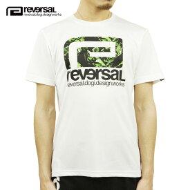リバーサル Tシャツ メンズ 正規販売店 REVERSAL ドライTシャツ 半袖Tシャツ BANANA BIG MARK DRY TEE rv21ss011 WHITE