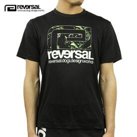 リバーサル Tシャツ メンズ 正規販売店 REVERSAL ドライTシャツ 半袖Tシャツ BANANA BIG MARK DRY TEE rv21ss011 BLACK