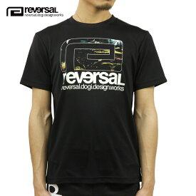リバーサル Tシャツ メンズ 正規販売店 REVERSAL ドライTシャツ 半袖Tシャツ FOREST BIG MARK DRY TEE rv21ss015 BLACK