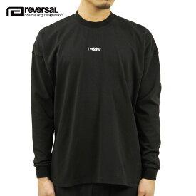 リバーサル Tシャツ メンズ 正規販売店 REVERSAL ビッグシルエット長袖Tシャツ コットンTシャツ COTTON MVS BIG SILHOUETTE LONG SLEEVE TEE rv21ss101 BLACK