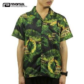 リバーサル シャツ メンズ 正規販売店 REVERSAL 半袖シャツ PALM LEAF COLOSSEUM SHIRTS rvap15ss010 APPAREL