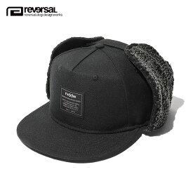 【ポイント10倍 12/11 10:00〜12/14 09:59まで】 リバーサル キャップ メンズ 正規販売店 REVERSAL 帽子 帽子 ドッグイヤーキャップ rvddw DOG EAR CAP rv18aw022 BLACK