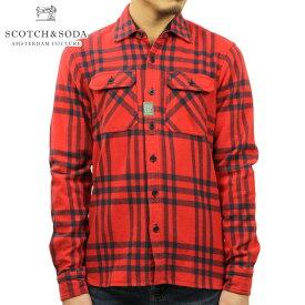 スコッチアンドソーダ シャツ メンズ 正規販売店 SCOTCH&SODA 長袖シャツ Brushed Flannel Oversized Shirt 100031 C