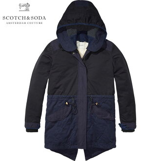 Scotch & soda SCOTCH &SODA regular sale shop mens outerwear jackets Winter parka with subtle color blocking, detachable hood and lining. 132313 57