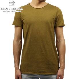 スコッチアンドソーダ Tシャツ 正規販売店 SCOTCH&SODA 半袖Tシャツ CLASSIC CREWNECK TEE 136449 0456 OLIVE D00S15