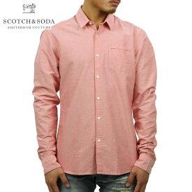スコッチアンドソーダ SCOTCH&SODA 正規販売店 メンズ 長袖ドレスシャツ PLAIN OXFORD WEAVE SHIRT 134352 0S HOT LIP D00S15