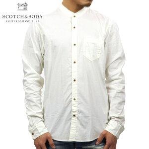 スコッチアンドソーダSCOTCH&SODA正規販売店メンズ長袖ドレスシャツSHIRTWITHRAWEDGECOLLAR1363540102DENIMW