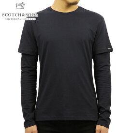 スコッチアンドソーダ Tシャツ メンズ 正規販売店 SCOTCH&SODA 長袖Tシャツ FAKE DOUBLE LAYER LONG SLEEVE TEE 139746 0093 43413 MIDNIGHT