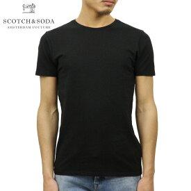 スコッチアンドソーダ Tシャツ 正規販売店 SCOTCH&SODA 半袖Tシャツ クルーネック BASIC NOS CLASSIC COTTON/LYCRA CREWNECK TEE 124891 90 BLACK