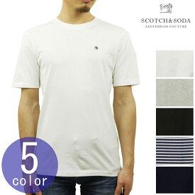 スコッチアンドソーダ SCOTCH&SODA 正規販売店 メンズ クルーネック 半袖ポケットTシャツ AMS BLAUW 1 POCKET 142072 54418