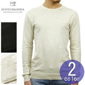 スコッチアンドソーダ SCOTCH&SODA 正規販売店 メンズ クルーネック セーター AMS BLAUW CREW NECK KNIT IN COTTON 141331
