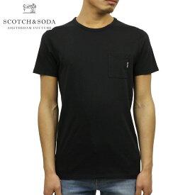 スコッチアンドソーダ SCOTCH&SODA 正規販売店 メンズ クルーネック 半袖ポケットTシャツ AMS BLAUW 1 POCKET TEE D 147612 90 BLACK
