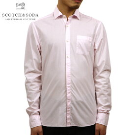 スコッチアンドソーダ SCOTCH&SODA 正規販売店 メンズ レギュラーフィット 長袖ドレスシャツ Yシャツ REGULAR FIT AMS BLAUW LIGHTWEIGHT SHIRT D 147845 2523 SKY PINK
