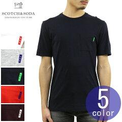 スコッチアンドソーダTシャツ正規販売店SCOTCH&SODAクルーネックポケット半袖TシャツAMSBLAUWCLASSICPOCKETTEE153621