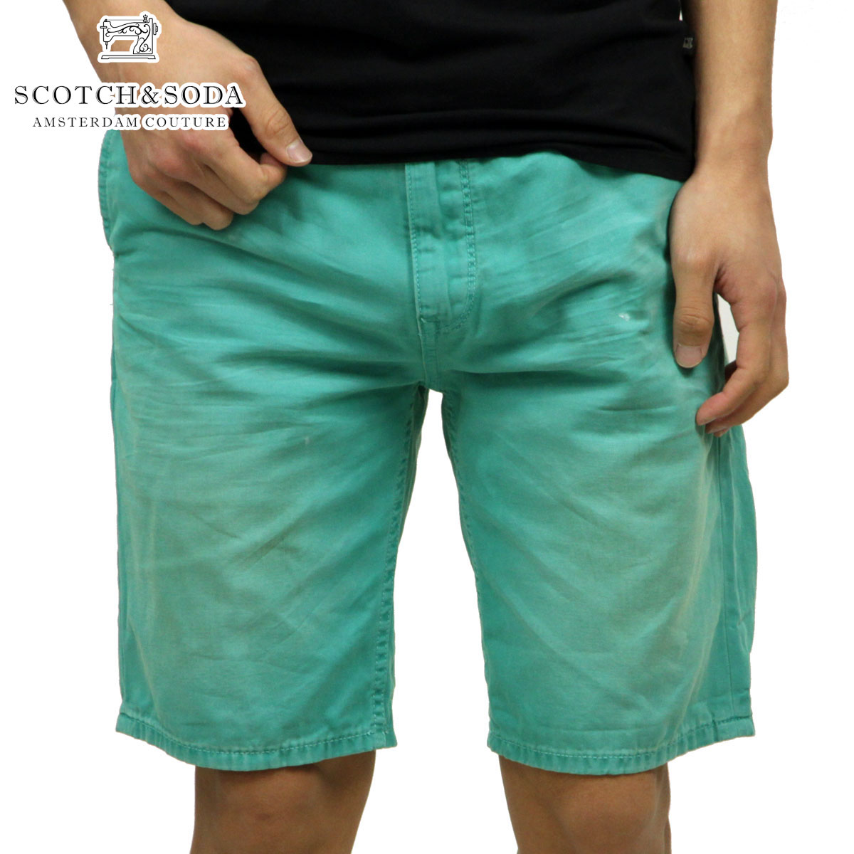 【販売期間 4/13 15:00〜4/24 9:59】 スコッチアンドソーダ SCOTCH&SODA 正規販売店 メンズ ショートパンツ Freeman Chino short - Canvas Garment Dyes 87093 63