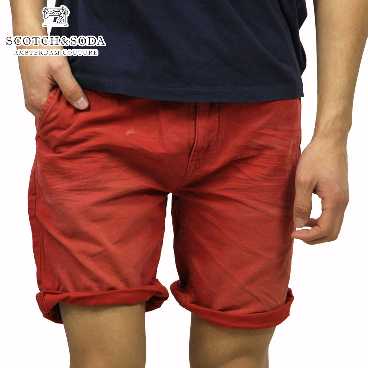 25%OFFセール 【販売期間 4/22 09:00〜4/26 09:59】 スコッチアンドソーダ SCOTCH&SODA 正規販売店 メンズ ショートパンツ Freeman Chino short - Canvas Garment Dyes 87093 30 D15S25