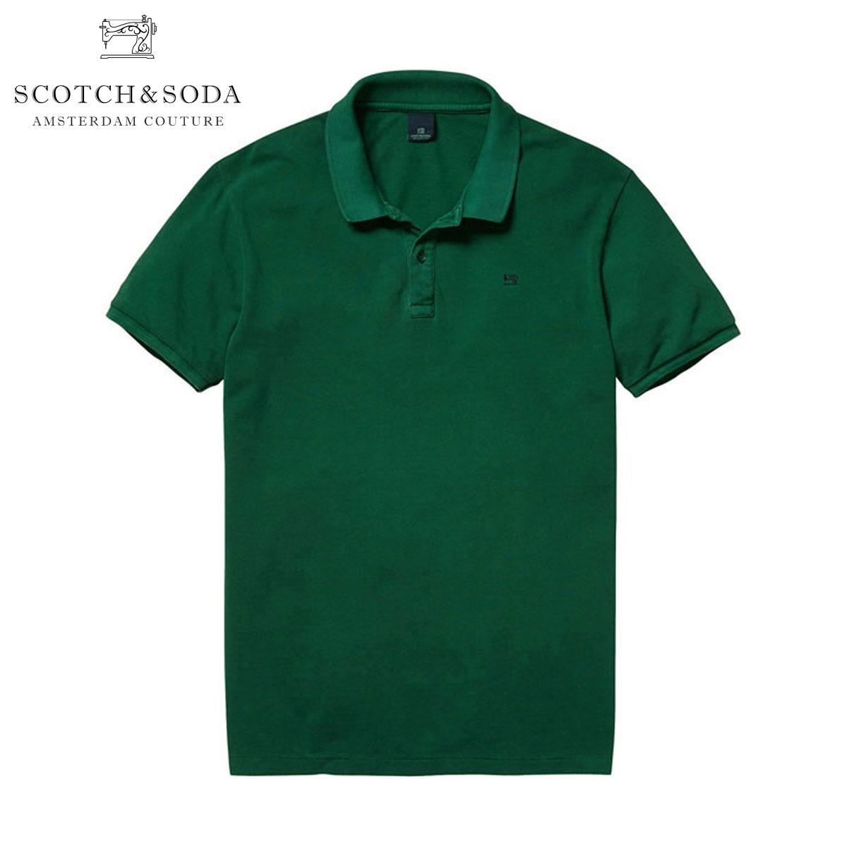 【ポイント10倍 4/21 10:00〜4/24 09:59まで】 スコッチアンドソーダ SCOTCH&SODA 正規販売店 メンズ ポロシャツ Classic garment dyed pique polo 130891 71