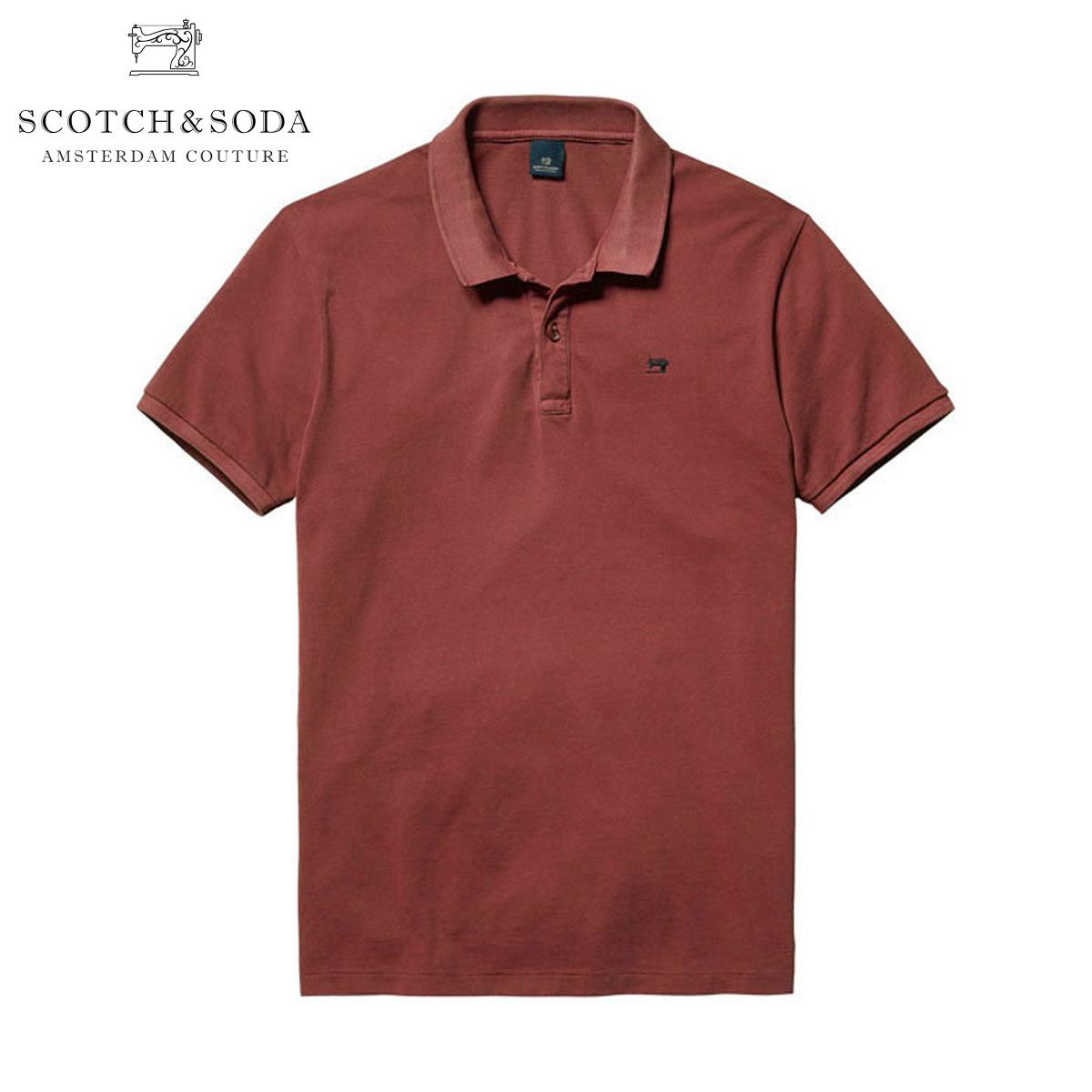 【ポイント10倍 4/21 10:00〜4/24 09:59まで】 スコッチアンドソーダ SCOTCH&SODA 正規販売店 メンズ ポロシャツ Classic garment dyed pique polo 130891 45