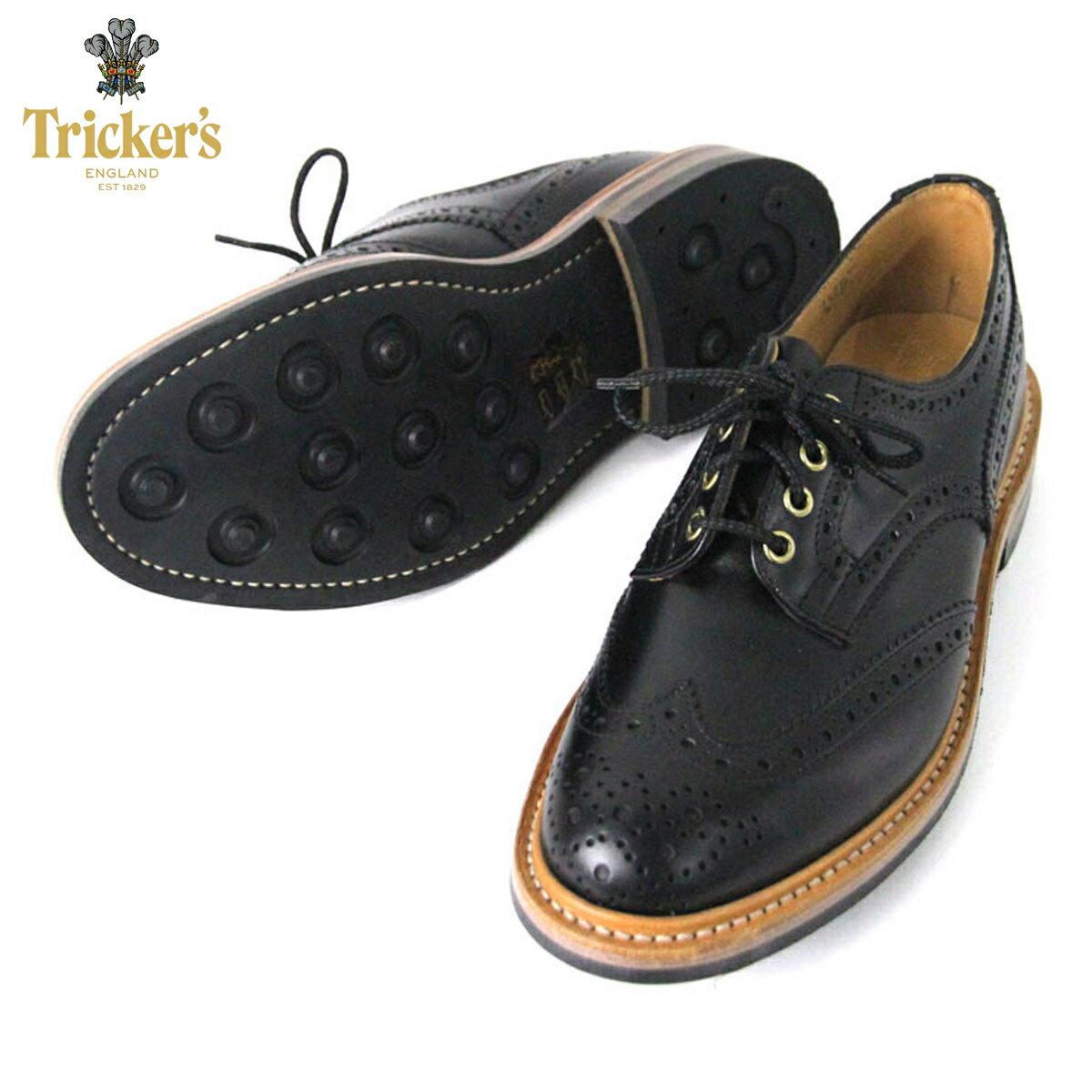トリッカーズ TRICKERS 正規販売店 カントリーシューズ TRICKER'S M7292 WING TIP SHOES BLACK D15S25