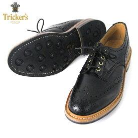 トリッカーズ TRICKERS 正規販売店 カントリーシューズ TRICKER'S M7292 WING TIP SHOES BLACK D20S30