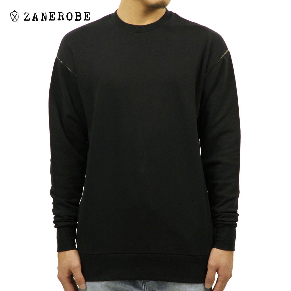 ゼンローブ ZANEROBE 正規販売店 メンズ スウェット RUGGER CREW SWEAT 402-TDK BLACK