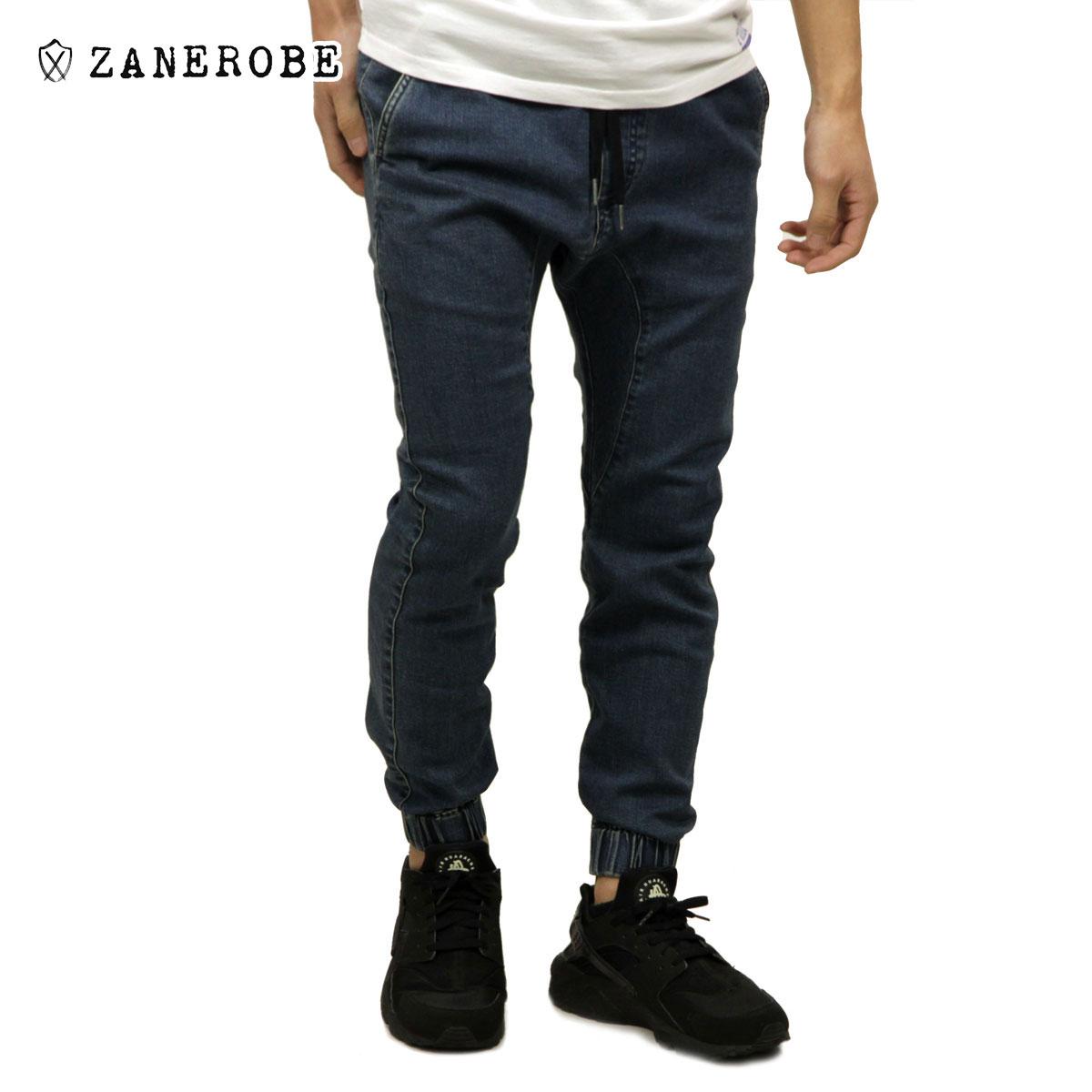 ゼンローブ ZANEROBE 正規販売店 メンズ デニム ジョガーパンツ SURESHOT DENIM JOGGER PANTS STRIPPED INDIGO 714-FT