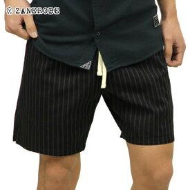 【ポイント10倍 12/4 20:00〜12/11 01:59まで】 ゼンローブ ZANEROBE 正規販売店 メンズ チノ ショートパンツ PINSTRIPE ZEPHYR CHINO SHORT PANTS BLACK/VINTAGE BLACK 603-VER