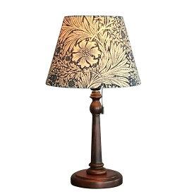 【クーポン配布中】 ウィリアムモリス 【テーブルランプ】『マリーゴールド・ネイビー』Marigold-N【送料無料】照明器具 アンティーク家具 おしゃれランプ 輸入 照明 鈴木家具