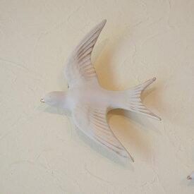 【送料無料】ウォールデコ ホワイト バードL 壁掛け おしゃれ 雑貨 輸入雑貨 白色 クラシック アンティーク調 風 レトロ 置物 飾り物 オブジェ インテリア雑貨 壁面装飾