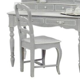 【スーパーセール限定品】 カントリーコーナー Country Corner ロマンスコレクション チェア Chair グレー色【送料無料】デスク 上置き鏡 卓上鏡 人気 白家具 おしゃれ 輸入家具 フランス家具 アンティーク調