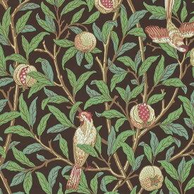【クーポン配布中】ウィリアムモリス 壁紙【鳥とザクロ Bird & Pomegranate】【送料無料】おしゃれ 壁紙 ウォールペーパー クロス 輸入壁紙 イギリス製 アンティーク 壁紙 植物 インテリア 本物 Morris【0830168】