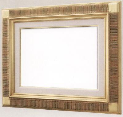 【送料無料】油絵用額縁 F8号キャンバス用平懸桟(同志舎) 木製