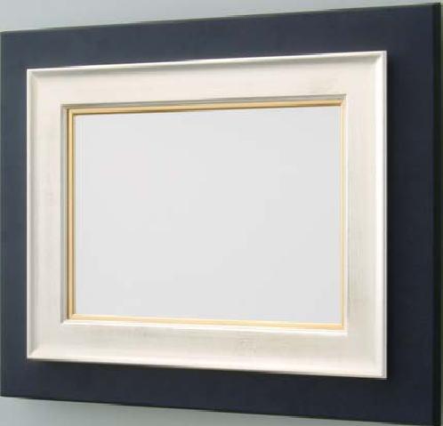【送料無料】油絵用額縁 F3号キャンバス用シリウス 銀(同志舎) 木製