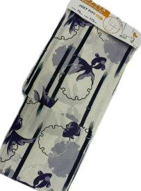 京都で一番浴衣を販売する小売屋さんお薦め【あす楽対応_近畿】2L-3Lサイズ 対応身長 160cm-175cm 仕立て上がり浴衣 生成地 金魚 柄 No.3167