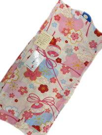 【あす楽対応】女子浴衣 9-10歳 女子用 子供 浴衣 白地 手毬 桜 柄 No3142
