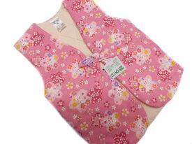 【あす楽対応】 日本製 子供 あったか ポンチョ 0〜1歳用 ピンク地 桜 ウサギ 柄 No.3102