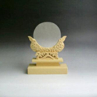 神鏡 青銅鏡+特上彫り雲形台 3寸