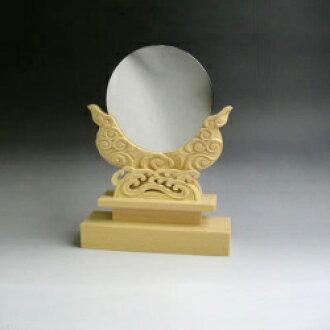 青铜镜子 + 特殊雕刻烫伤 4 英寸